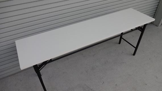 折り畳み会議机 ホワイト 幅180×奥45cm